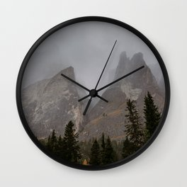 Mystical Mountains Wall Clock