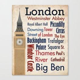 Travel - London Canvas Print