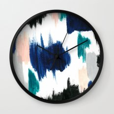 Blue Abstract Painting Wall Clock