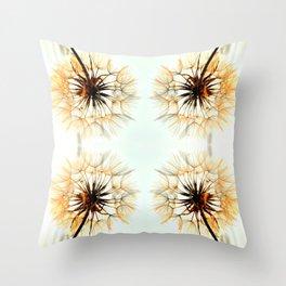dandelions mosaic Throw Pillow