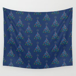 Christmas Trees Pattern Wall Tapestry