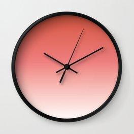 Ombre Peaches & Cream Wall Clock