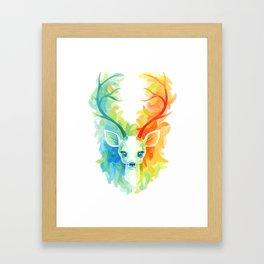 Feather Fawn Framed Art Print