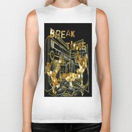 Break Time (black and gold vers.) Biker Tank
