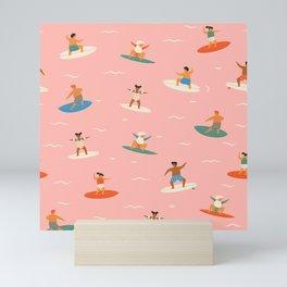 Surf kids Mini Art Print