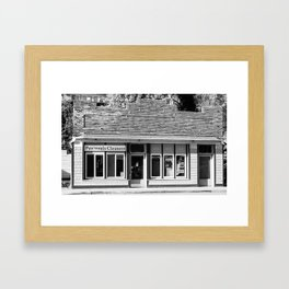 Gig Harbor Cleaners Framed Art Print