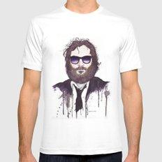 Joaquin Phoenix Mens Fitted Tee MEDIUM White