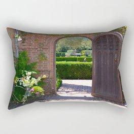 door to the gardens Rectangular Pillow