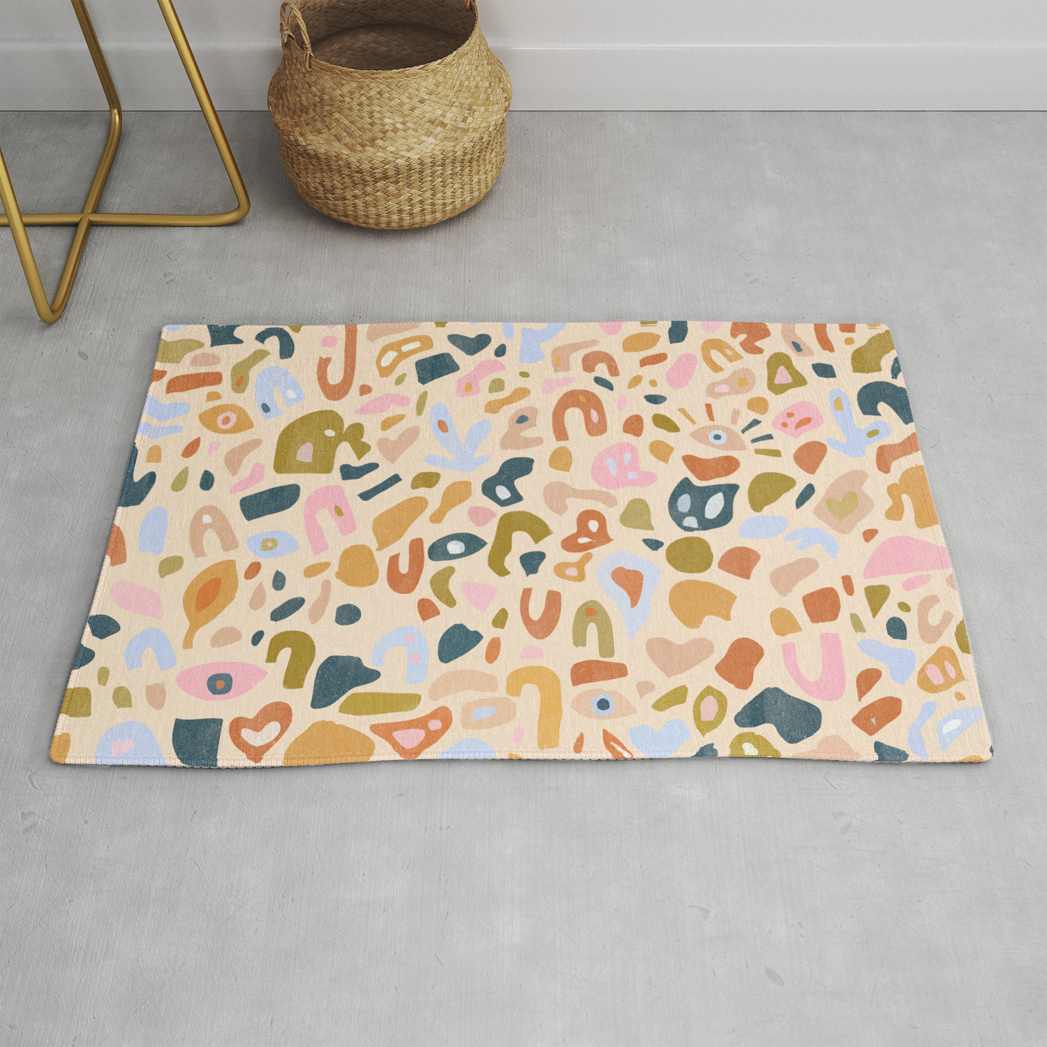 Abstract Paper Cuts Rug By Aljahorvat