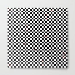 Love Chessboard Metal Print