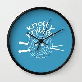 Knotty Knitter Wall Clock
