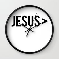 jesus Wall Clocks featuring Jesus > by Sarah Leanne