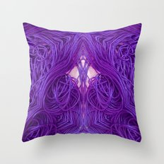 Purple Coils Throw Pillow