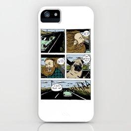 Pug driver iPhone Case