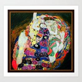 Art Nouveau Ladies - Gustav Klimt Art Print