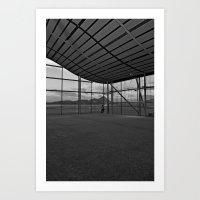 Man & Runway Art Print