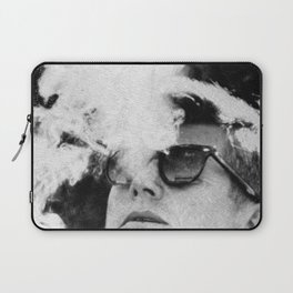 John F Kennedy Cigar and Sunglasses Black And White Laptop Sleeve