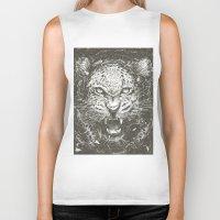 leopard Biker Tanks featuring LEOPARD by Stefania Grippaldi