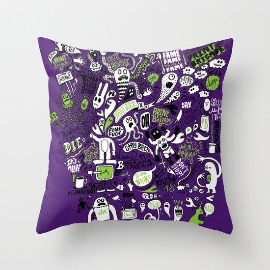 Print Brigade Collage Throw Pillow