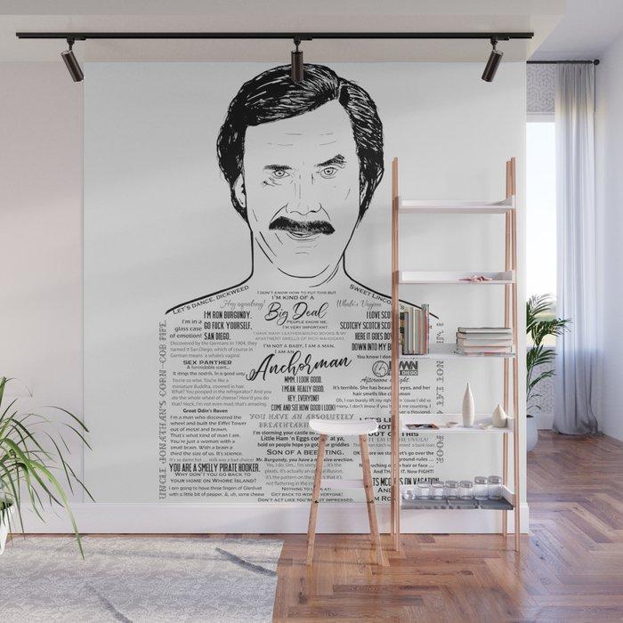 Ron Burgundy - Scotchy Scotch Scotch Wall Mural by ohmyseeds