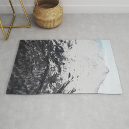 Snow Covered Mountainside Rug