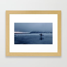 Arctic Surf Framed Art Print