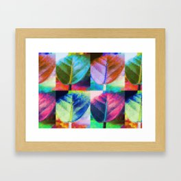 Abstract Leaf Colors Framed Art Print