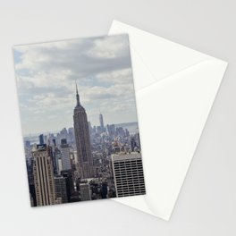 New York State of Mind view, Empire State building | The beautiful NYC from above on top of the Rock Stationery Cards