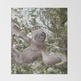 Sloth, A Real Tree Hugger Throw Blanket