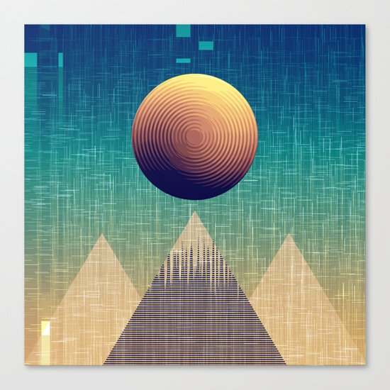 Moonrise Abstract Canvas Print