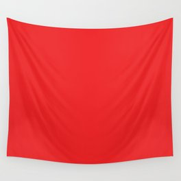 Red Solid Color Wall Tapestry