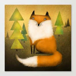 FOX IN WOODS Canvas Print