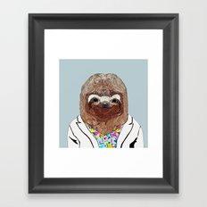 1980's Sloth Framed Art Print