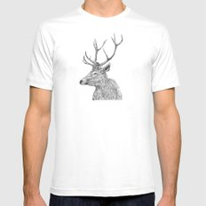 stag n.1 Mens Fitted Tee White MEDIUM