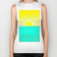 birthday Biker Tanks featuring Birthday Yellow by ANoelleJay