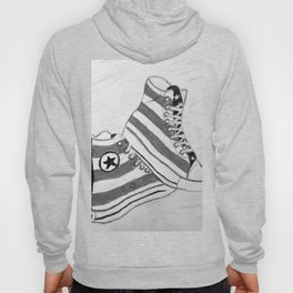 black and white rock and roll Hoody