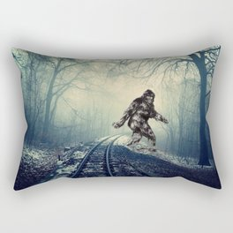 Misty Railway Bigfoot Crossing Rectangular Pillow