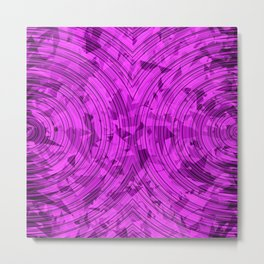 psychedelic geometric circle pattern abstract background in pink Metal Print