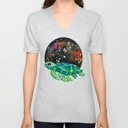 Watercolor Sea Turtle Unisex V-Neck