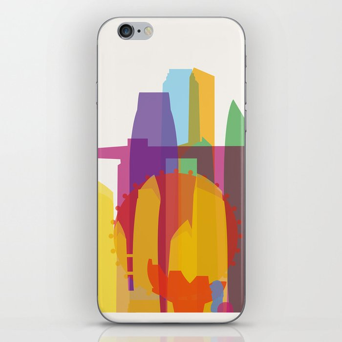 Shapes of Singapore. iPhone Skin