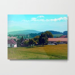 Country life in summertime Metal Print