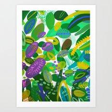 Between the branches. III Art Print