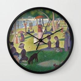 """Un dimanche après-midi à l'île de la Grande Jatte """"A Sunday on La Grande Jatte"""" Georges Seurat, 1886 Wall Clock"""