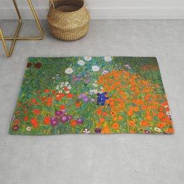 Flower Garden Bauerngarten Klimt Garden Floral Oil Painting Rug
