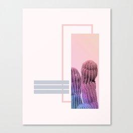 Pastel Cactus #society6 #spring Canvas Print