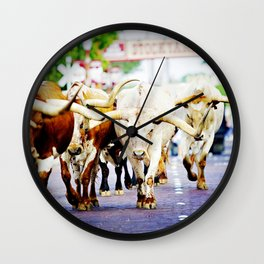 Texas Stockyards Wall Clock