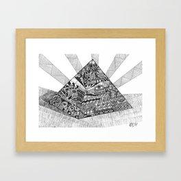 A pyramid Framed Art Print