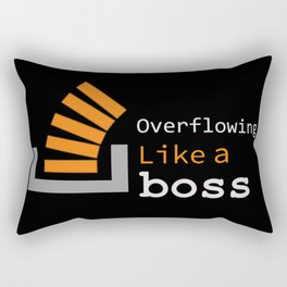 Overflowing like a boss Rectangular Pillow