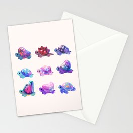 Jewel turtle - pastel Stationery Cards