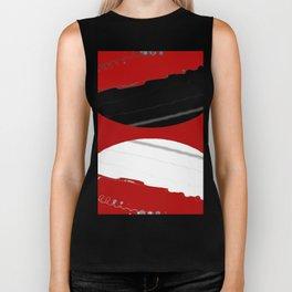 red black white grey abstract digital painting Biker Tank